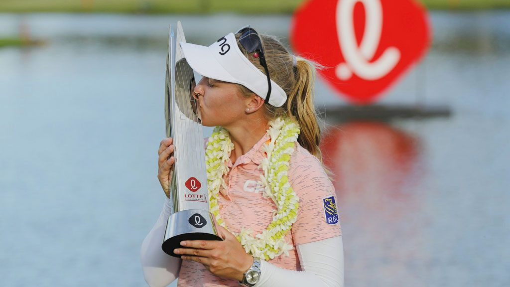 Brooke Henderson wins in Hawaii to tie Canadian Victory Mark